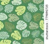 green vector tropical pattern... | Shutterstock .eps vector #779890735