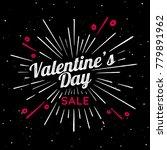valentines day vector vintage... | Shutterstock .eps vector #779891962
