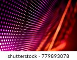 Abstract led panel art