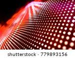 abstract led panel art  | Shutterstock . vector #779893156