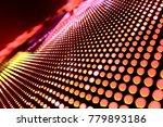 abstract led panel art  | Shutterstock . vector #779893186
