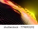abstract led panel art  | Shutterstock . vector #779893192
