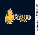 citizens fan print art   Shutterstock .eps vector #779896372