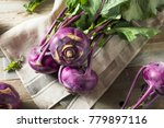 Raw Organic Purple Kohlrabi...