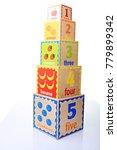 Small photo of children ABC wooden blocks