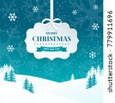 2018 merry christmas and happy... | Shutterstock .eps vector #779911696