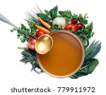 pan of vegetable soup with... | Shutterstock . vector #779911972