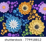 Decorative Background With 3d...