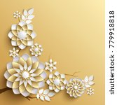 3d branches of golden arabesque ... | Shutterstock . vector #779918818