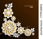 3d branches of golden arabesque ... | Shutterstock .eps vector #779918842