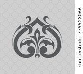 vintage baroque ornament. retro ... | Shutterstock .eps vector #779923066