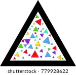 black triangle and much color... | Shutterstock .eps vector #779928622