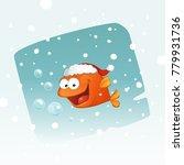 happy little fish saying happy...   Shutterstock .eps vector #779931736