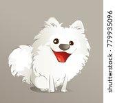 happy cute american eskimo puppy   Shutterstock .eps vector #779935096
