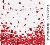 heart confetti of valentines... | Shutterstock .eps vector #779942446