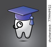 vector funny wisdom tooth...   Shutterstock .eps vector #779949922