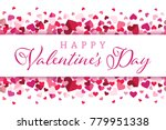 happy valentines day floating... | Shutterstock .eps vector #779951338