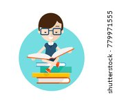 read books icon. student... | Shutterstock .eps vector #779971555