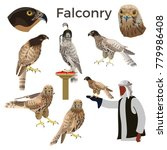 birds of prey and falconry. set ... | Shutterstock .eps vector #779986408