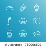 cuisine icon line set with eggs ... | Shutterstock . vector #780006802