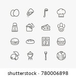 Cuisine Icon Line Set With...