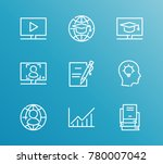 learning icon line set with... | Shutterstock . vector #780007042