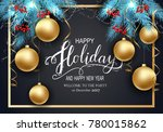 holidays greeting card for...   Shutterstock .eps vector #780015862