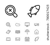 editable icons set with pc ...