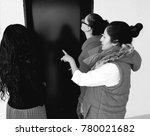 women waiting for elevator | Shutterstock . vector #780021682