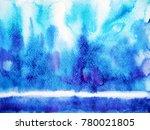 abstract blue wave sea ocean... | Shutterstock . vector #780021805