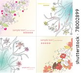 set of floral backgrounds | Shutterstock .eps vector #78002899