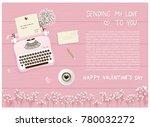 flat design valentine's card... | Shutterstock .eps vector #780032272