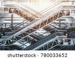 side view of several criss... | Shutterstock . vector #780033652