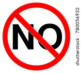 forbidden no sign isolated on... | Shutterstock .eps vector #780056932