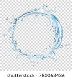 vector water splash circle | Shutterstock .eps vector #780063436