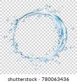 vector water splash circle | Shutterstock .eps vector #780063436