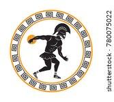 discus throwing in ancient... | Shutterstock .eps vector #780075022