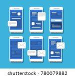 set of modern smartphones ...   Shutterstock .eps vector #780079882