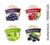 organic berries labels... | Shutterstock . vector #780082126