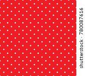 seamless retro white red polka... | Shutterstock .eps vector #780087616
