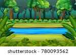 forest and river | Shutterstock . vector #780093562