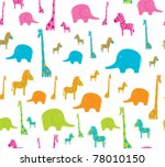 seamless with cute african... | Shutterstock .eps vector #78010150