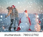 snowman  winter holiday... | Shutterstock . vector #780112702