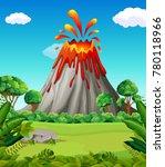 nature scene of volcano eruption | Shutterstock .eps vector #780118966