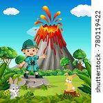 adventurer in the mountain   Shutterstock .eps vector #780119422