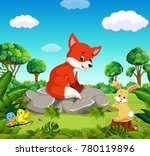 fox in the forest | Shutterstock .eps vector #780119896