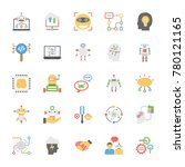 icons collection of artificial... | Shutterstock .eps vector #780121165