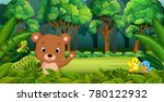 baby bear in the forest   Shutterstock .eps vector #780122932