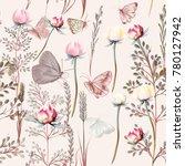 flower vector pattern with...   Shutterstock .eps vector #780127942