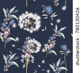 botanical vector pattern with... | Shutterstock .eps vector #780130426